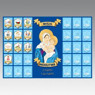 Nabożeństwa majowe 2021: Naklejki dla dzieci (20 kompletów)