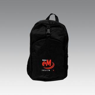 Plecak z logo radia eM